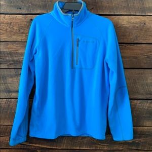 Columbia blue half zip pullover, jacket
